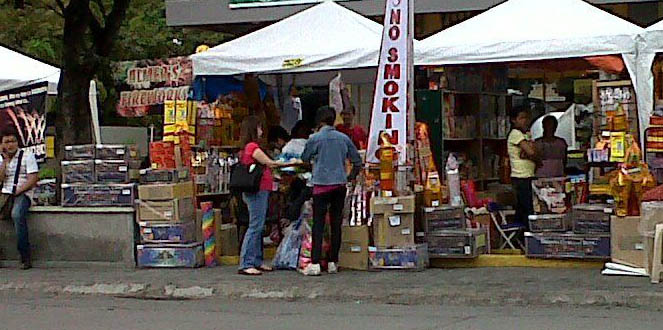 White Plains Avenue - meters away from PNP HQ - is where the firecrackers are, General!