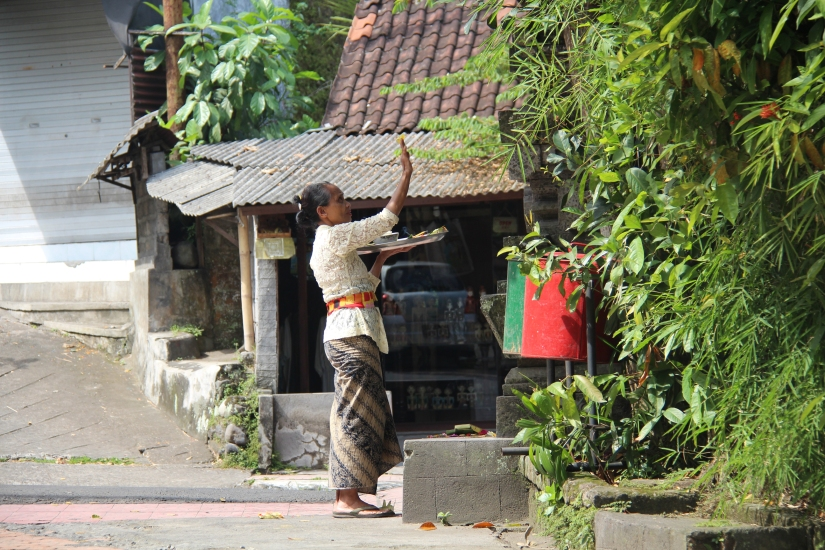 the robust flow of commerce never gets in the way of the overpowering spirituality of bali