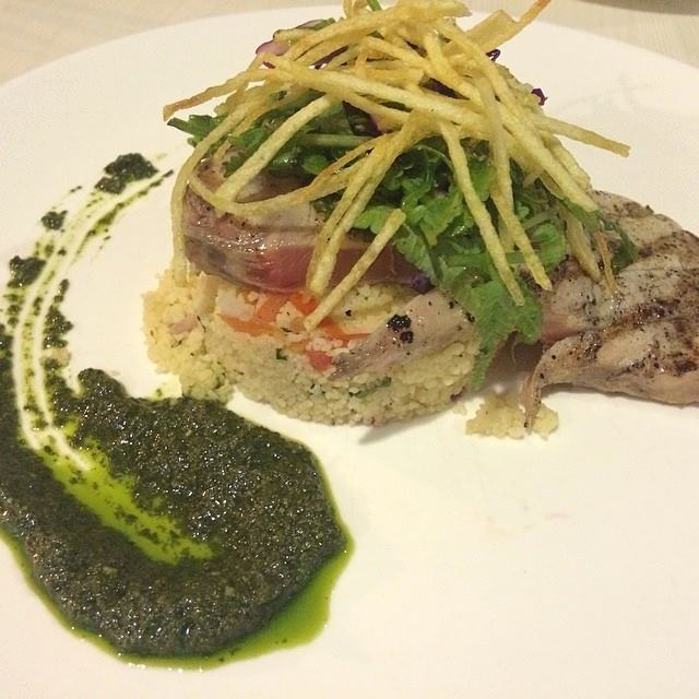 Seared Blue Marlin w/ Pistou Couscous