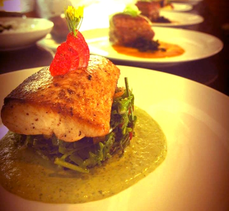 Seared Blue Marlin w/ Pistou Couscous!