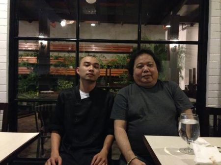 Chef Miguel with the author
